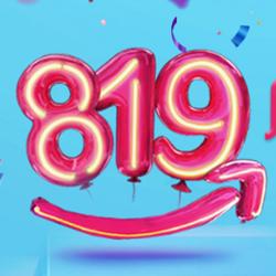 【亚马逊】亚马逊819店庆欢乐送,一站购全城