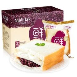 玛呖德紫米奶酪夹心面包770g箱装