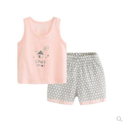 Barpupapa夏季新款儿童背心短裤套装