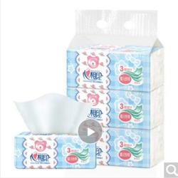 心相印婴儿抽纸3层120抽面巾纸*3包